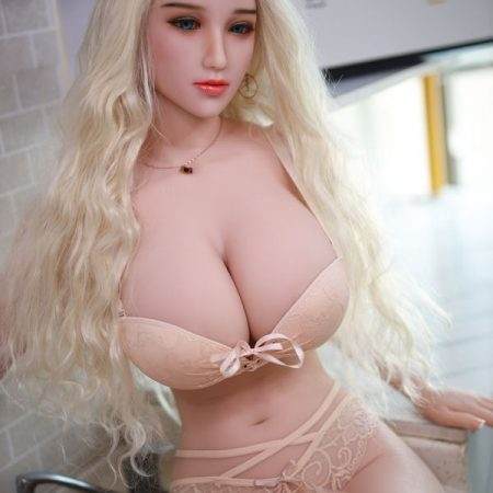 168cm Tpe Blonde Woman With Long Hair Human Sex Doll