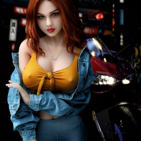 160cm Sexy Red Hair Blow Up Sex Doll - Enid