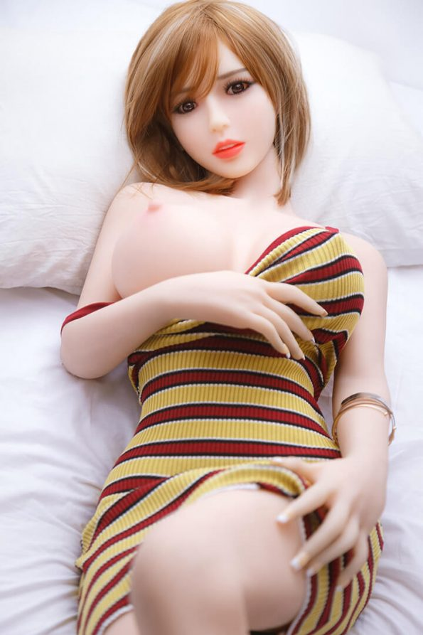 158cm Blonde Hair Chinese Sex Doll Big Breasts – May