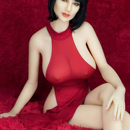 168cm Tessa Short Hair WM Robot Sex Doll Dressed Sexy Red Skirt