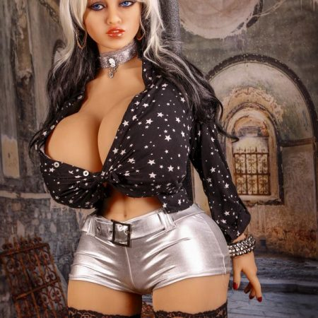 Alana : 141cm silver hair O cup big buttocks real silicone dolls