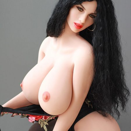 Mona : 170cm curly hair big breast silicone love doll big ass