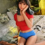 Female Full Body Sex Doll In Red And Blue Outfit