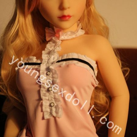 Mini Cute Female Sex Doll With Curly Hair And Long Hair