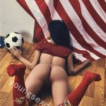 Sexy Big Breasted Full Body Female Sex Doll Holding A Football