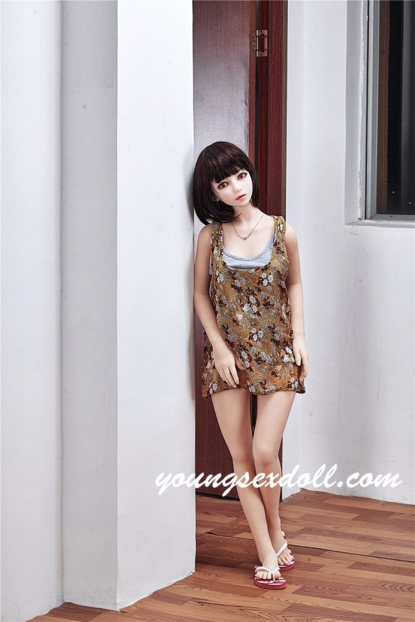 145cm New Lulu Black Hair Obedient And Cute Blonde Sex Doll