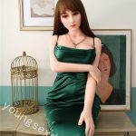 Realistic Sex Doll With Skin In Green Suspender Skirt