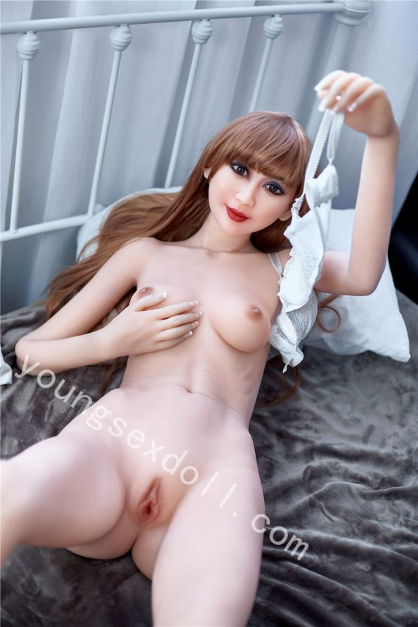 Elegant And Realistic Tpe Female Sex Doll In White Underwear