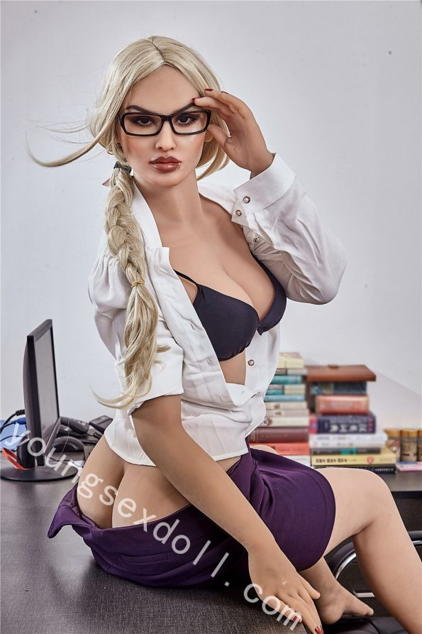 Full-body Female Sex Doll With Professional Attire And Glasses