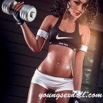 Fitness Girl With Black Curly Hair And Sexy Small Breasts Black Sex Doll