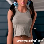 Slim Brown Hair Sexy Small Breasts Charming Black Sex Doll