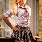 College Suit Blonde Female Doll For Men
