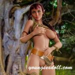 157cm Forest Lively Purple Hair Big Breasts Elf Sex Doll