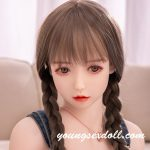 Cute And Charming White Face Sex Doll Head