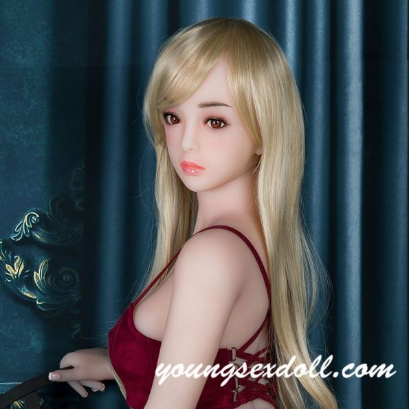 Exquisite Blonde Long Hair Beautiful Sex Doll Head