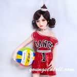 100cm Lively Exquisite Black Curly Hair Mini Sex Doll