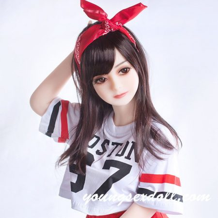 100cm Exquisite Petite Black Long Hair And Big Eyes Mini Sex Doll