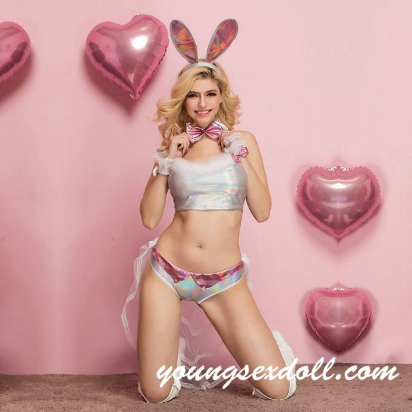 Bunny Suit White Underwear Panties Sexy Sex Doll Clothes