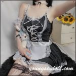 Cosplay Maid Black Lace Sexy Sex Doll Clothes