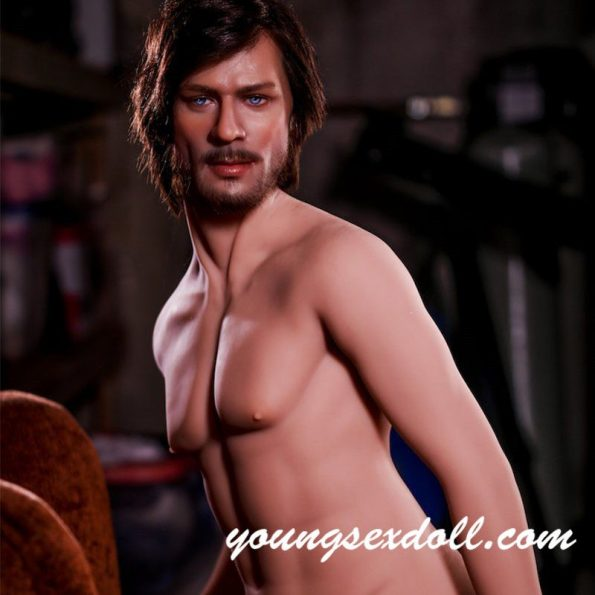 167cm Uncle Mature Brown Hair Strong Handsome Male Sex Doll