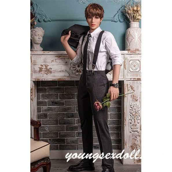 160cm Ceo Brown Haired Abdominal Muscles Big Cock Handsome Male Sex Doll