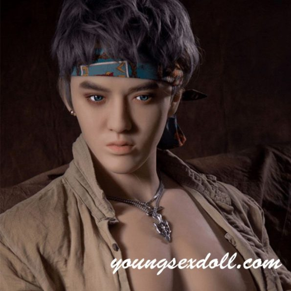 170cm Star Brown Hair Strong And Handsome Male Sex Doll