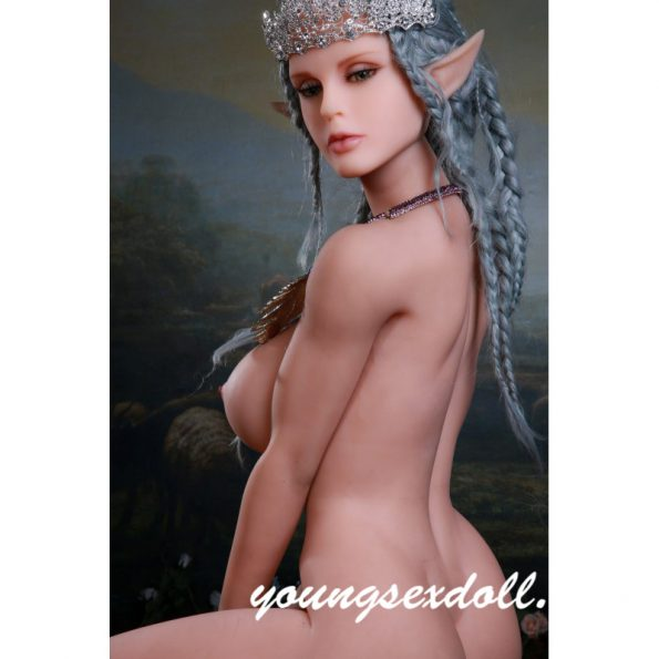 165cm Exquisite Gray Hair And Big Breasts Beautiful Elf Sex Doll