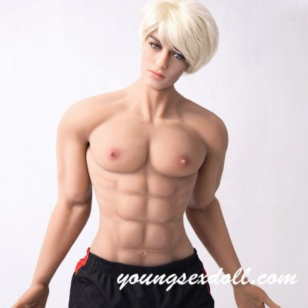 180cm Fitness Vitality White Hair Strong And Tall Male Sex Doll